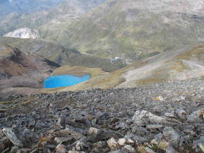 View down to Forcola di Livigno, 600 m lower