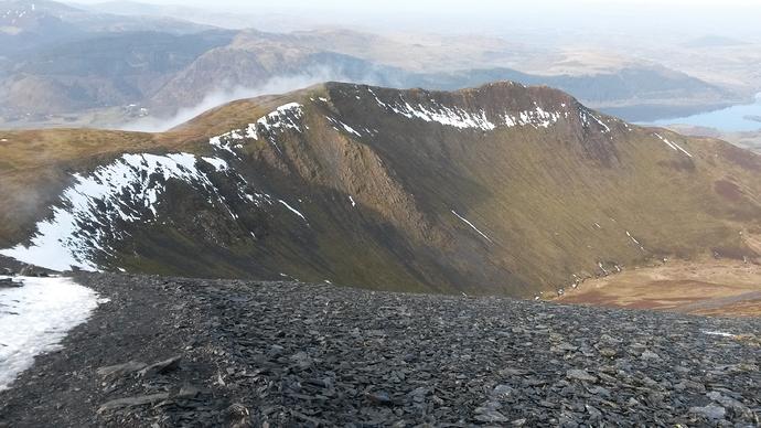 Long Edge - descent route