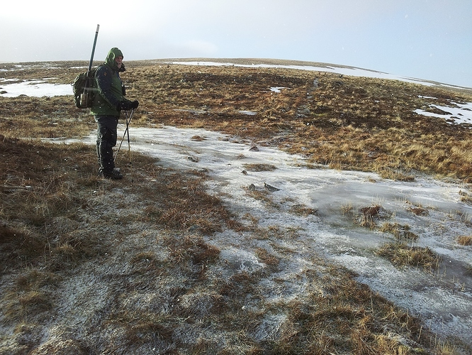 12 - well iced path up to Shalloch on Minnoch
