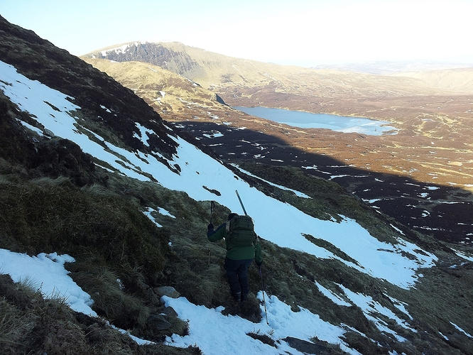 05 - Careful negotiation of the steep section of Rough Craigs