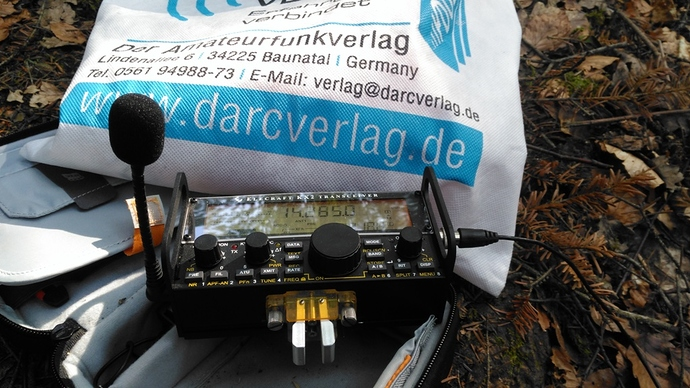 Emergency microphone deployed on VO-116 after €5 2 year old  boom mic went u-s bag was won in SOTA raffle at FN