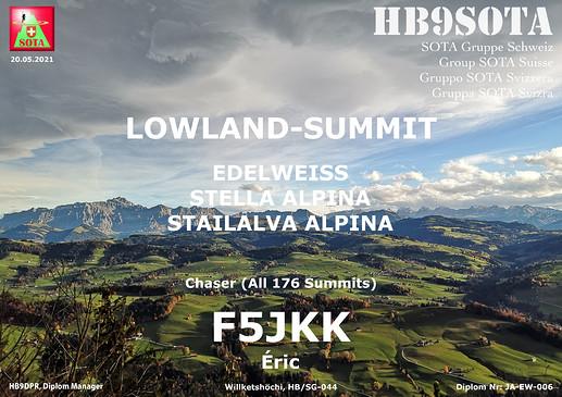 F5JKK lowland award JA-EW-006