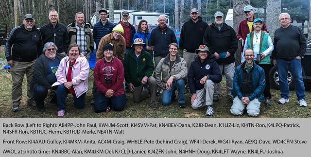 2018 W4SOTA Campout Attendees