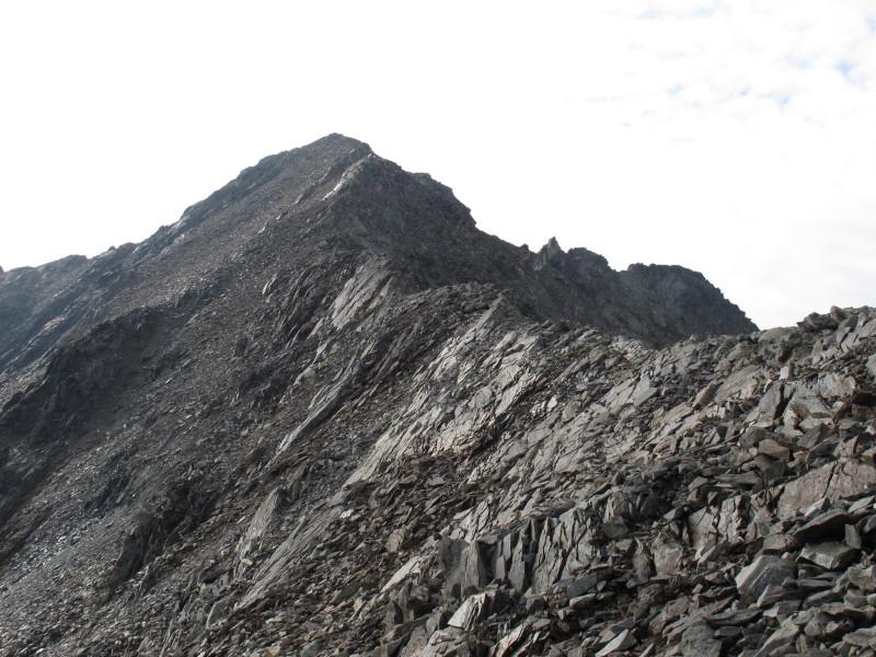 The last 500 m on the ridge