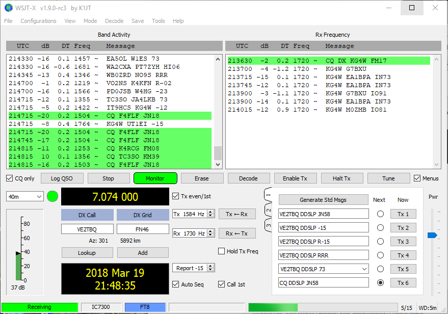 New release of WSJT-x software V1 91 for FT8 etc - Off Topic