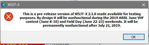 Sourceforge jumps the gun with WSJT-x 2 10 RC6 - RC7 now